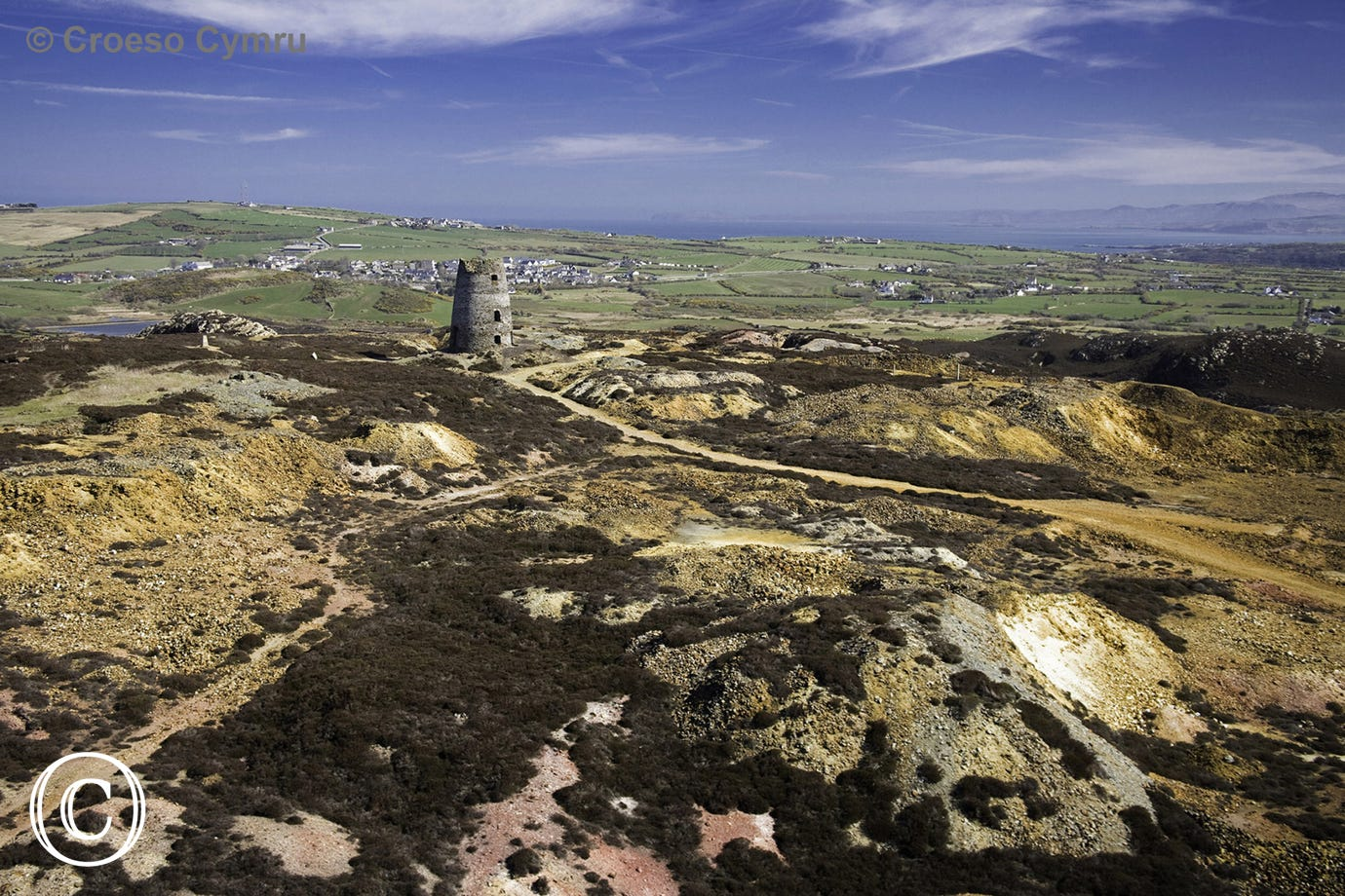 Mynydd Parys Mountain - network of walks around an ancient copper mine