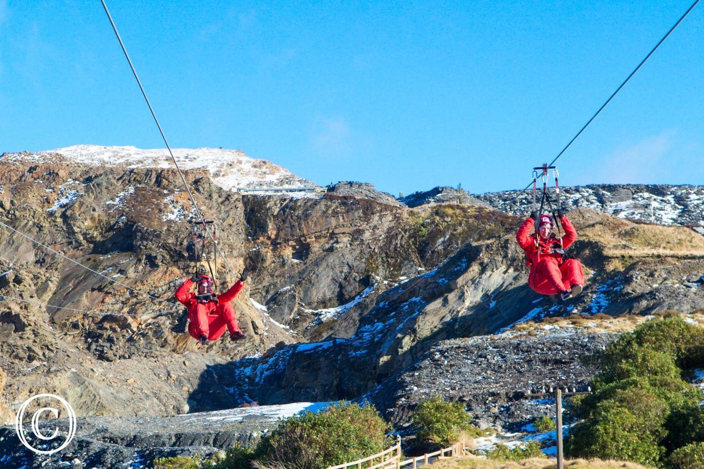 Zip World Titan at Blaenau Ffestiniog, where you will also find Bounce Below