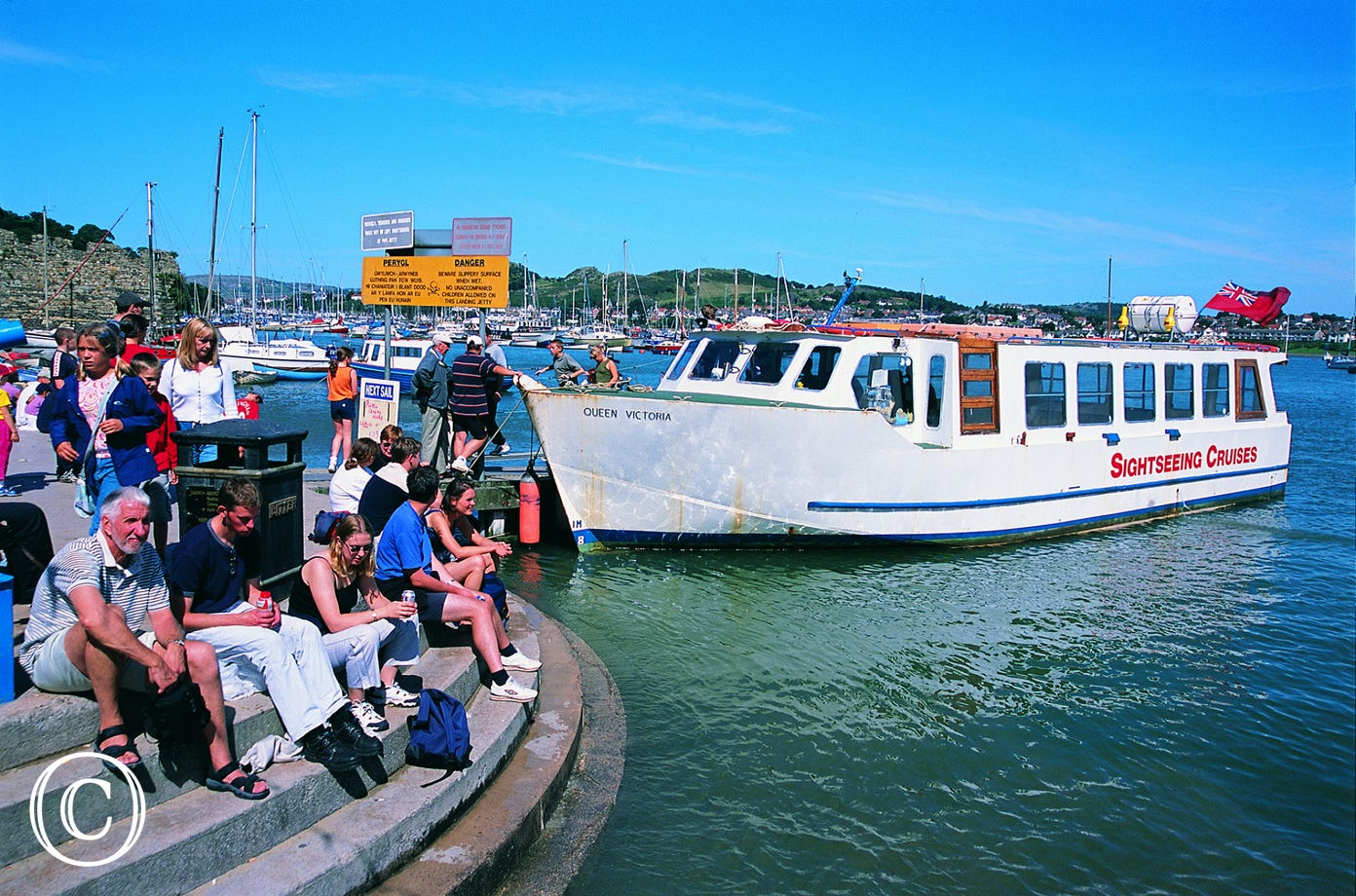 Enjoy a scenic boat ride from Conwy Marina
