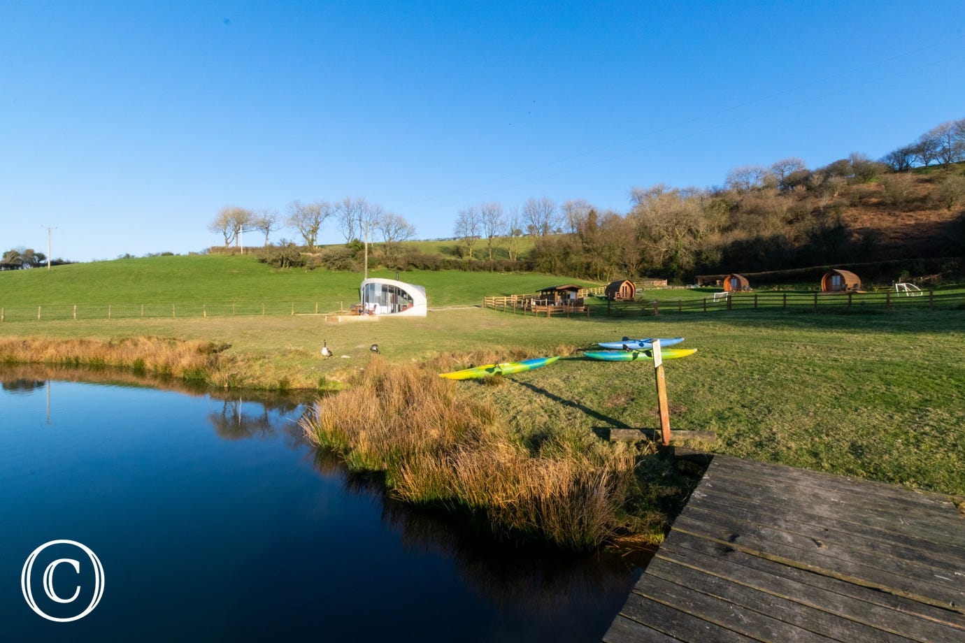 Sky Hut is located on a family run glamping site in beautiful West Wales countryside
