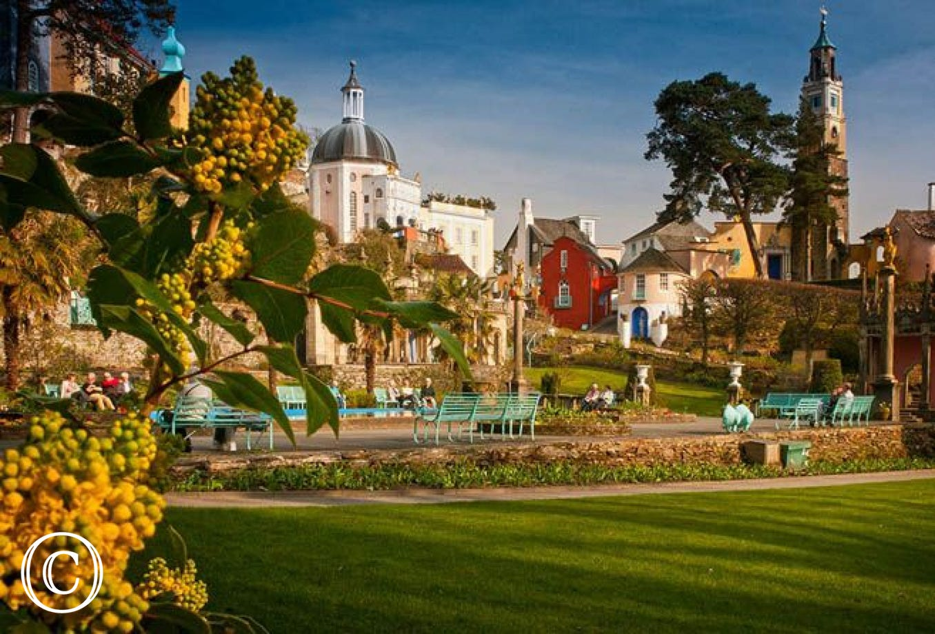 Portmeirion Italianate Village, 11 miles from your Trawsfynydd accommodation