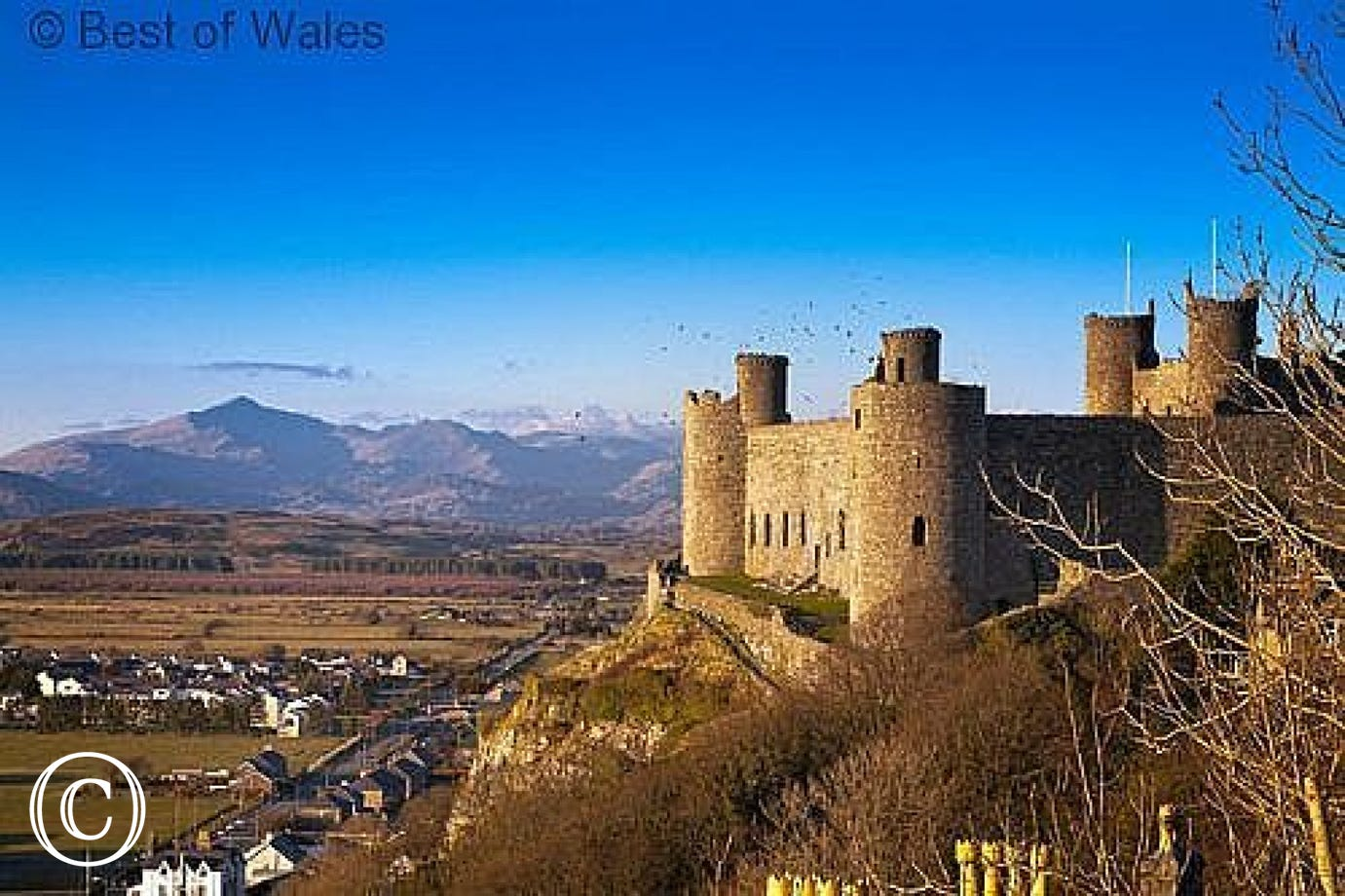 Harlech Castle (15 miles) is a World Heritage Site