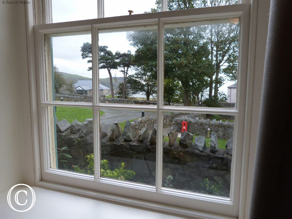 View from the upstairs bedroom of your Nant Gwrtheyrn cottage