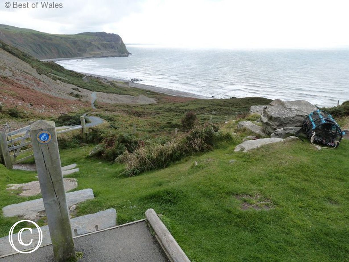 The walk down to the beach is also where you join the Coastal Path