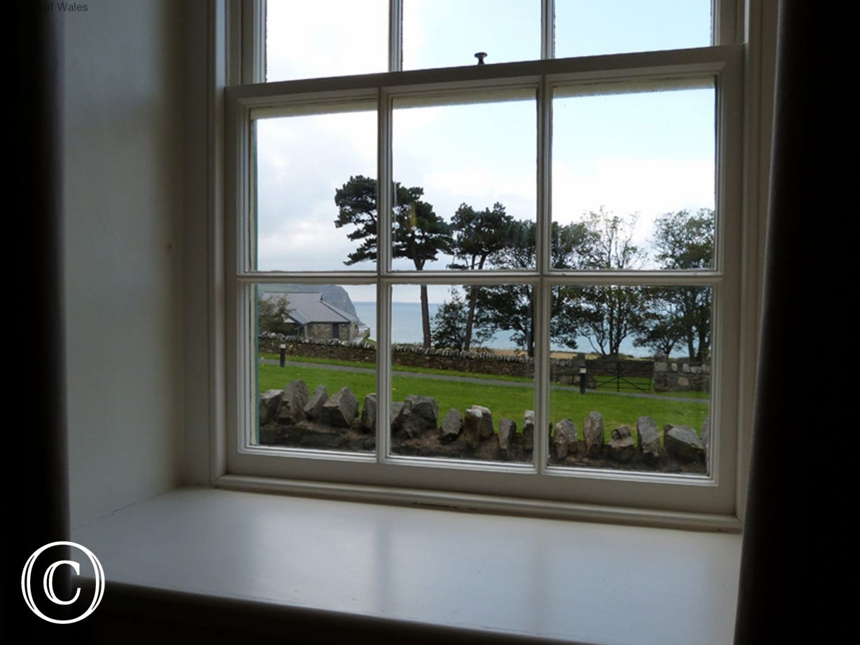 Sea view from the upstairs bedroom...