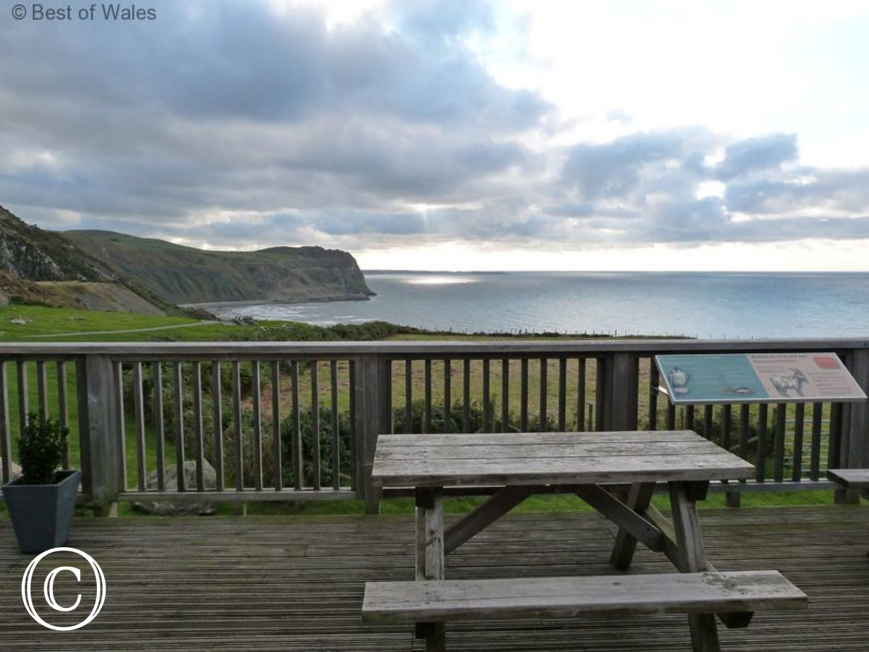 Benches and picnic tables dotted around the grounds to admire the views