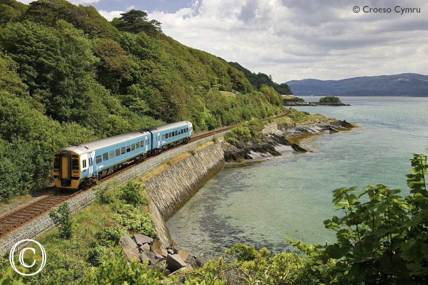 Jump on the train and enjoy one of the most scenic coastal train journeys in the world, all the way from Machynlleth to Pwllheli
