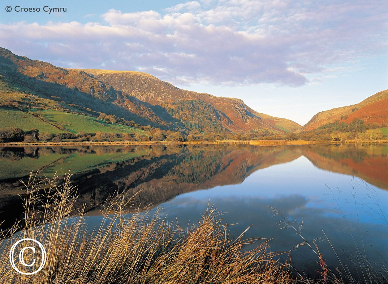 Tal-y-llyn lake - one of Wales' iconic views less than 10 miles away