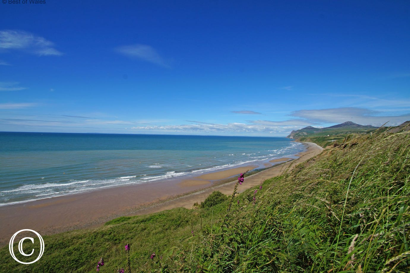 Porth Nefyn beach - accessed via a footpath just across the road (0.4 mile)