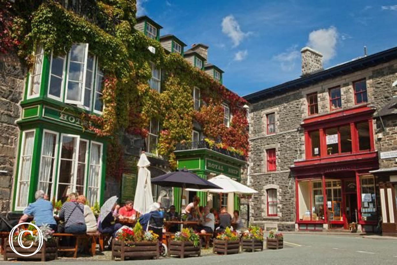 Plenty of shops, pubs & restaurants 2 miles up the road in Dolgellau