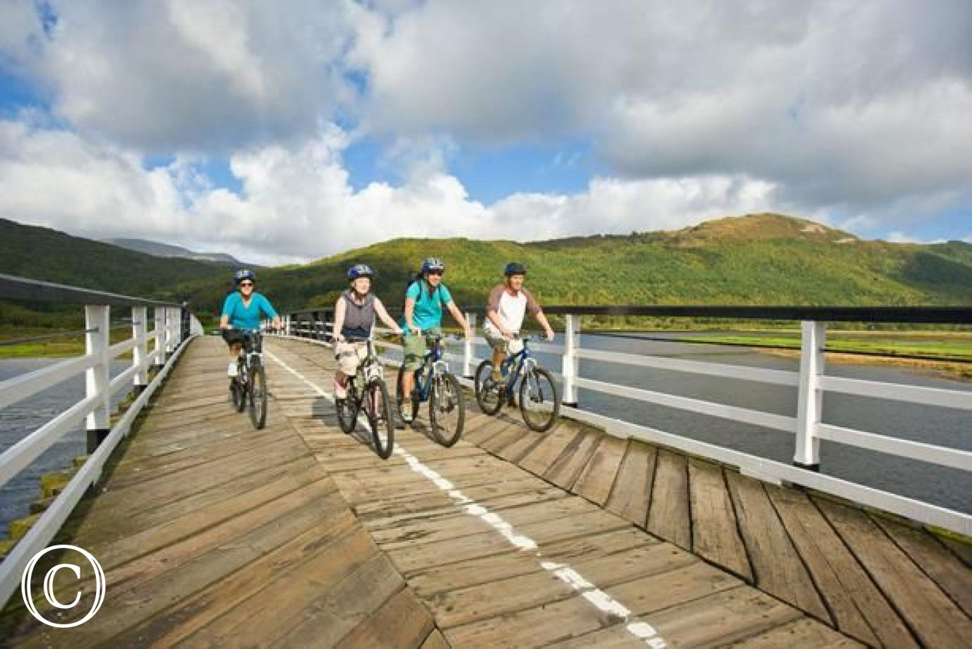 Various cycling routes, including the Mawddach Trail
