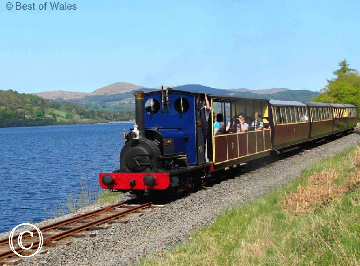 Sit back and enjoy the views on Bala Lake Railway, just over the pass