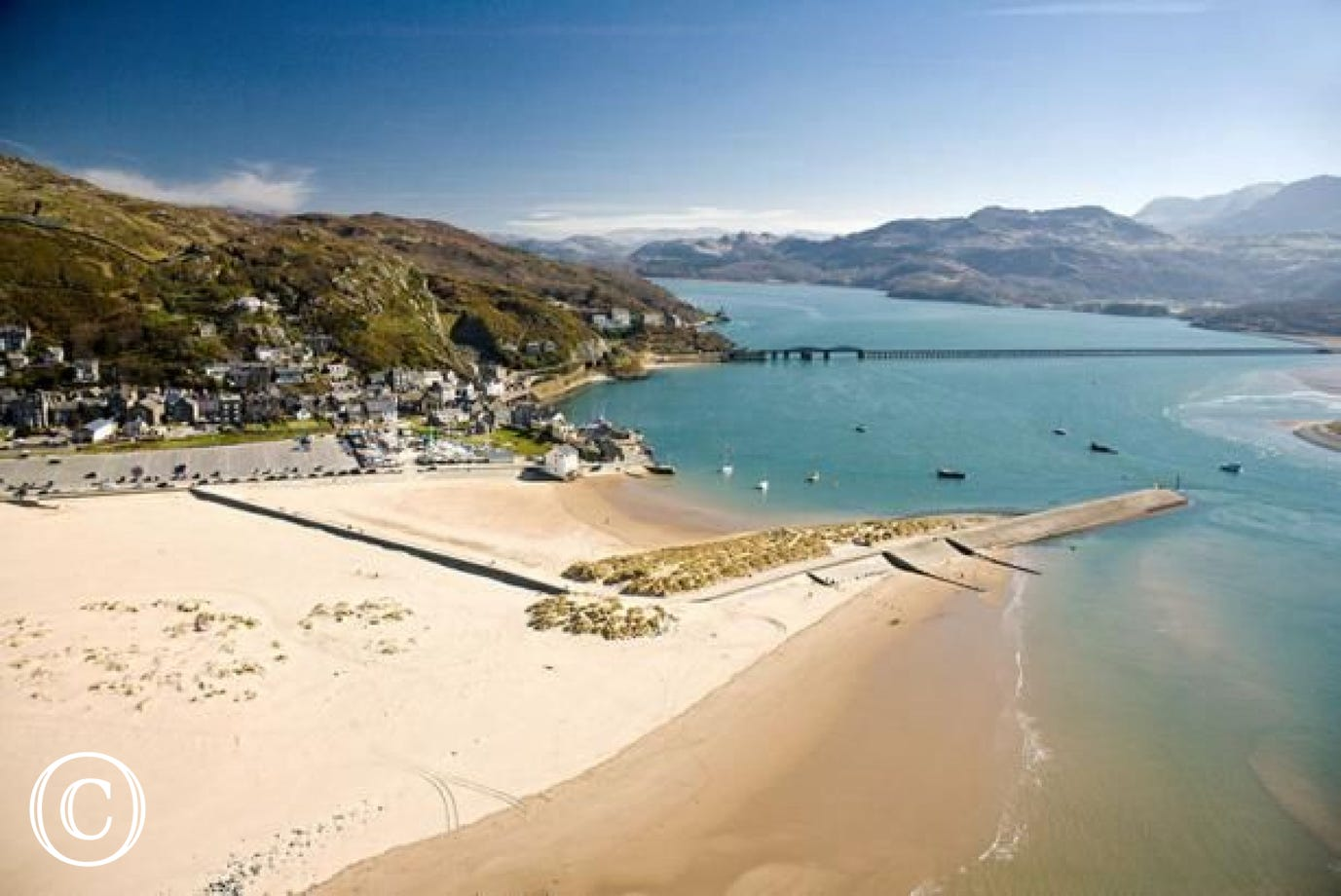 The beautiful Blue Flag beach at Barmouth, just 1 mile from the cottage
