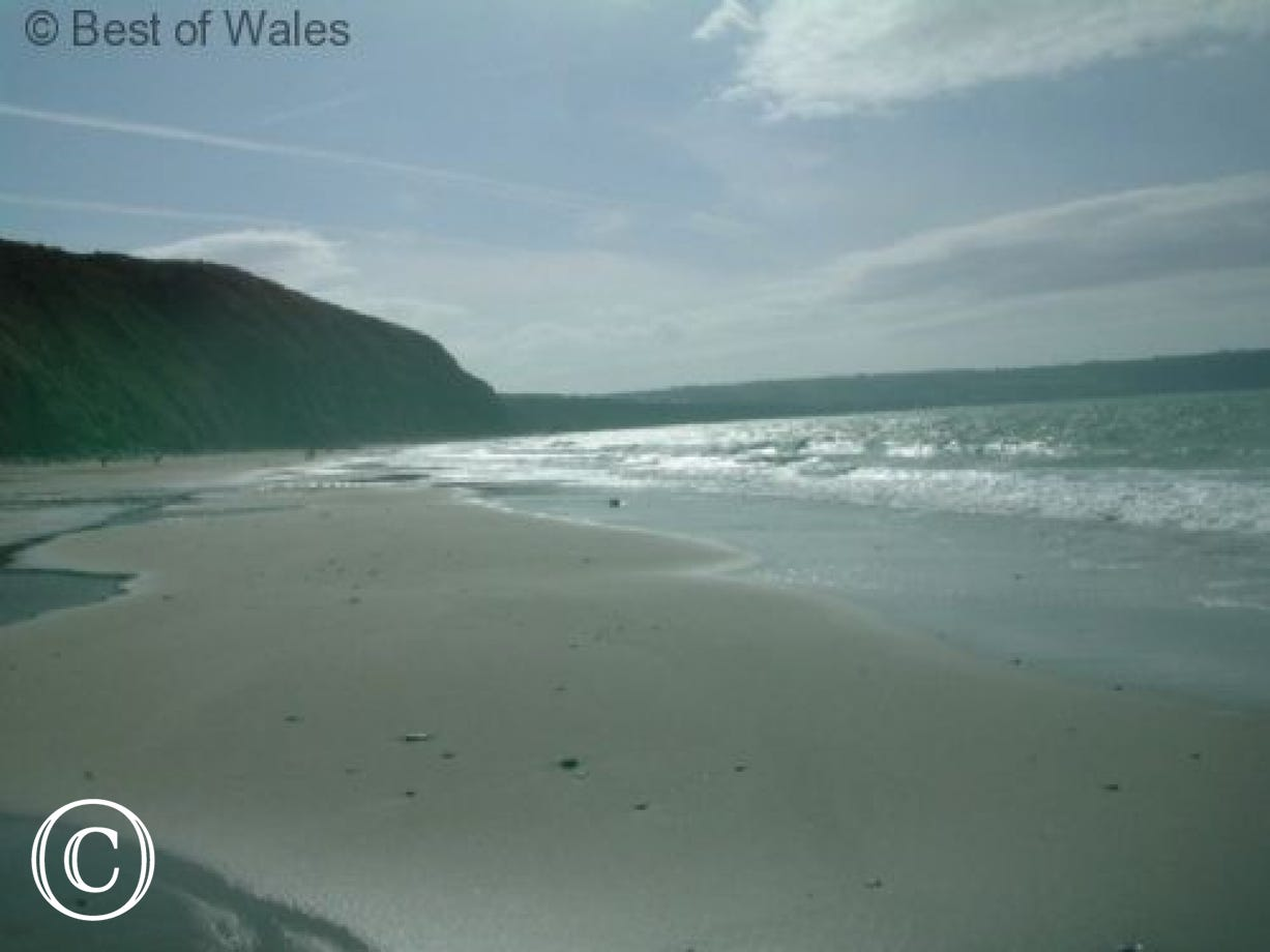 Tresaith Beach - one of the many fine beaches on the West Wales coast