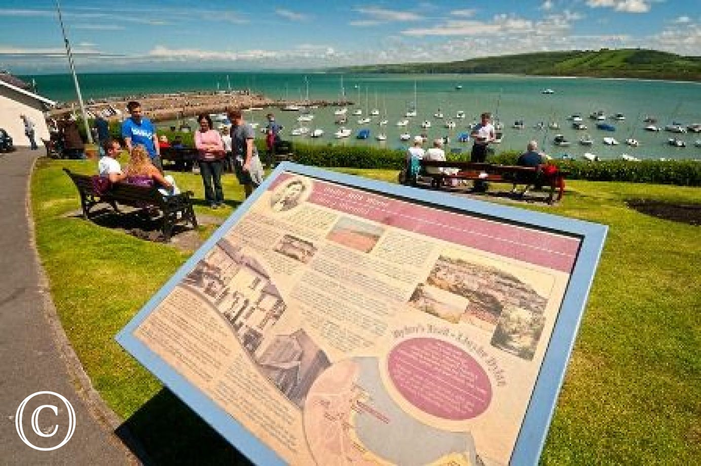 New quay harbour and interpretation on Dylan Thomas