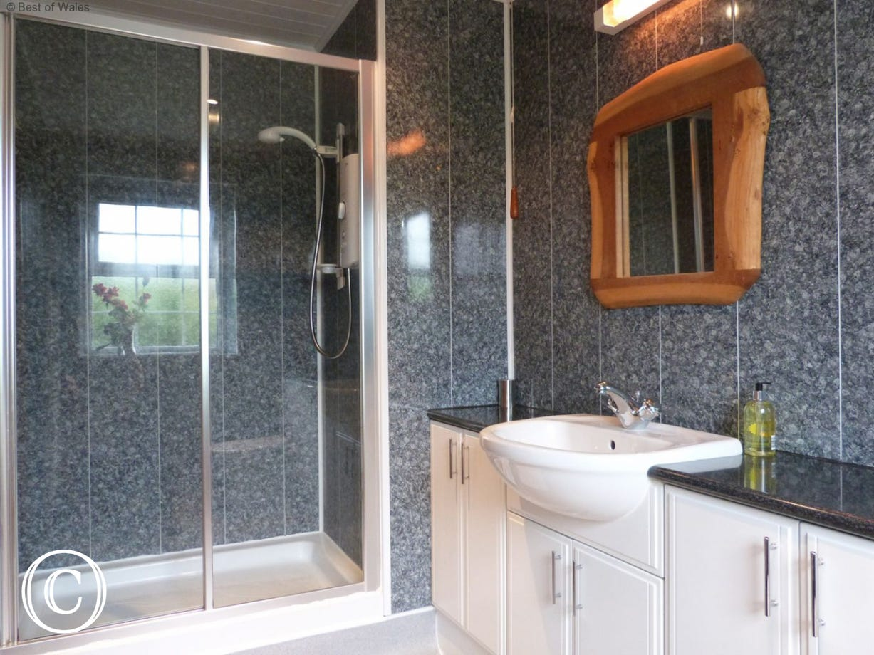 En-suite includes an electric shower, basin and WC