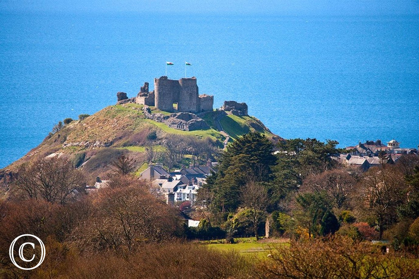 Visit the glorious Welsh castle at Cricieth and relax on its two beaches