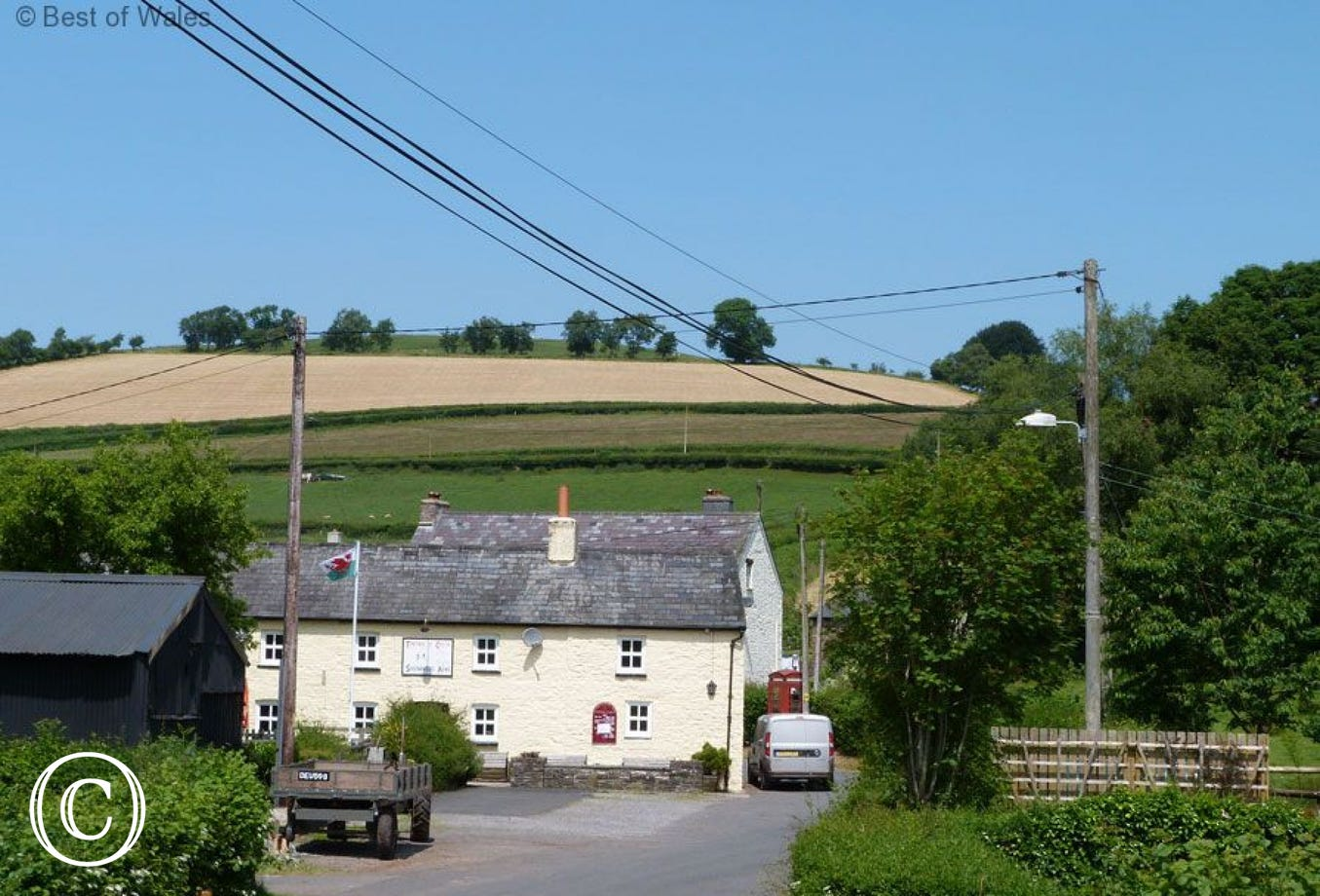 iew from the cottage garden towards the traditional village pub
