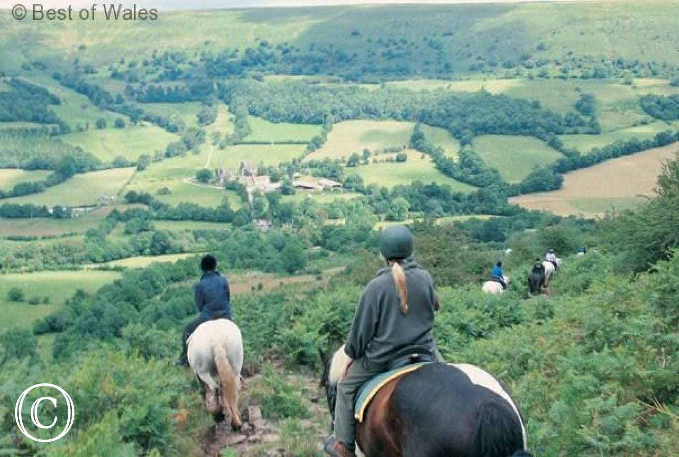 Horse riding in the Brecon Beacons