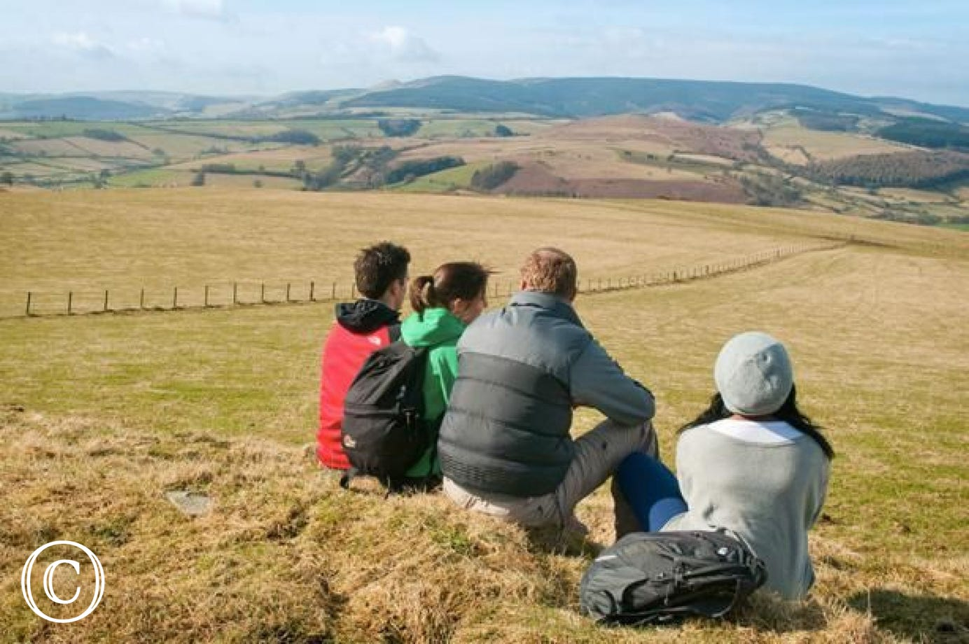 Glyndwr's Way National Trail - a very popular walk nearby.