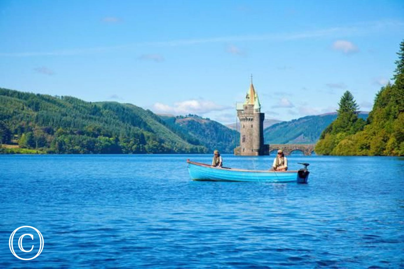 Why not hire a fishing boat and spend a relaxing day on Lake Vyrnwy