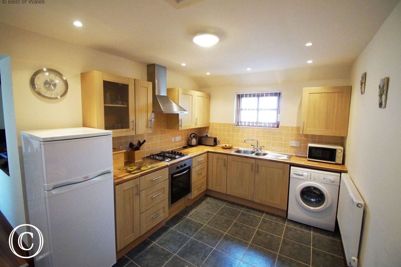 Fully equipped kitchen at this Pembrokeshire holiday cottage