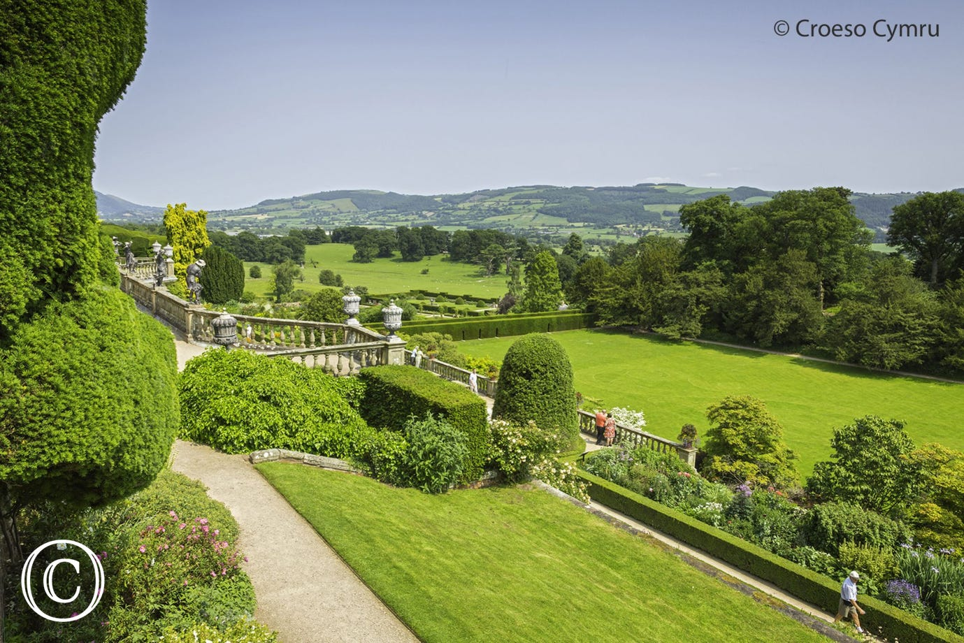 The gardens at Powis Castle