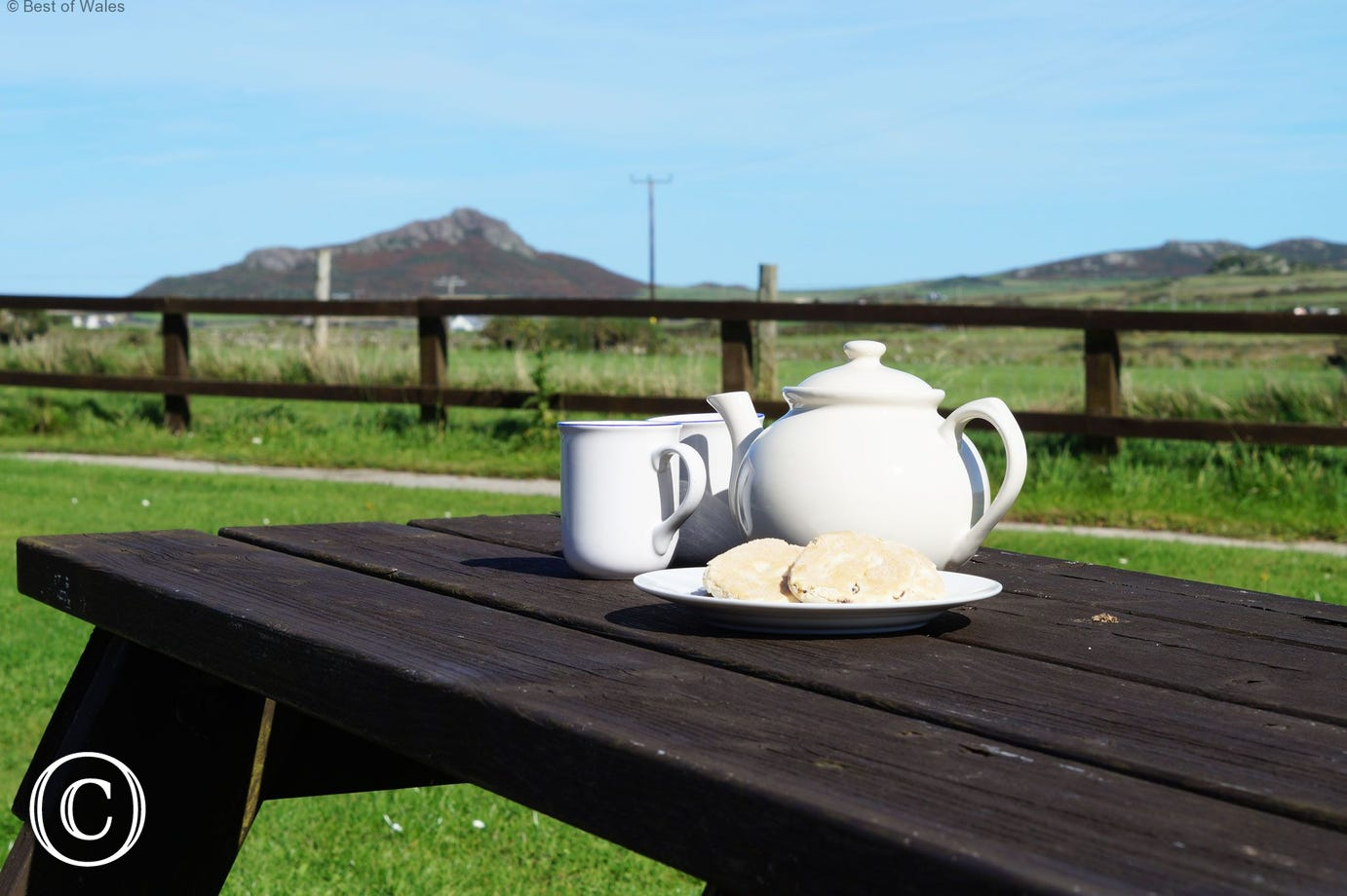Enjoy a morning tea or coffee outside