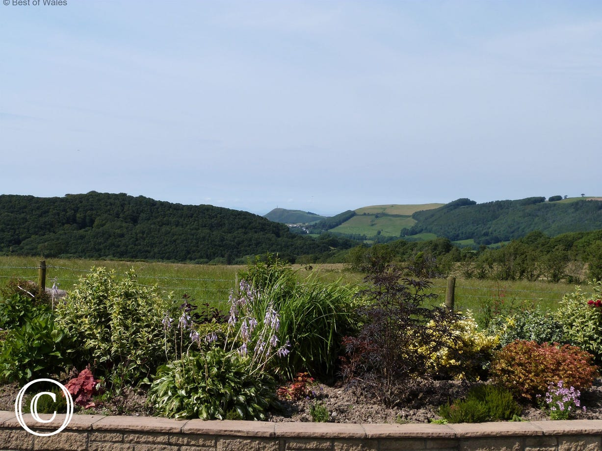 Beautiful views from the grounds towards Aberystwyth & the coast