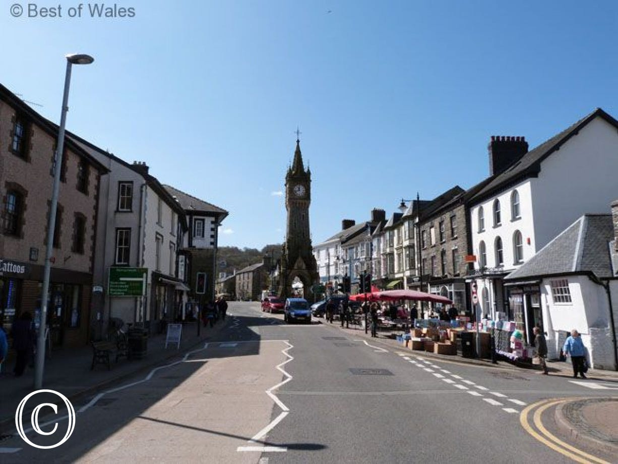 Machynlleth, the Ancient Capital of Wales on market day (5 miles)