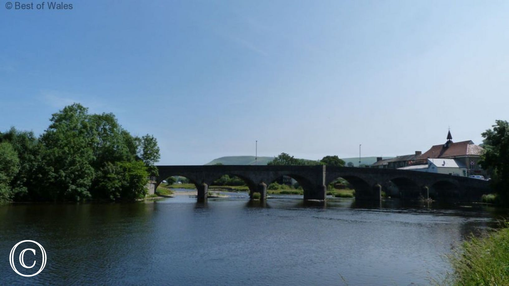 The River Wye at Builth Wells