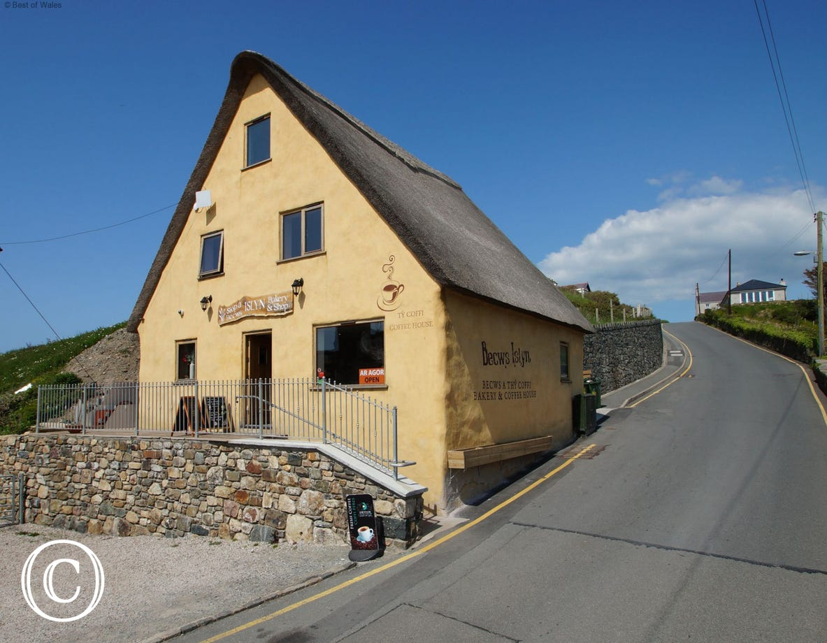 A 'must visit' when in Aberdaron - thatched roof bakery and tea room
