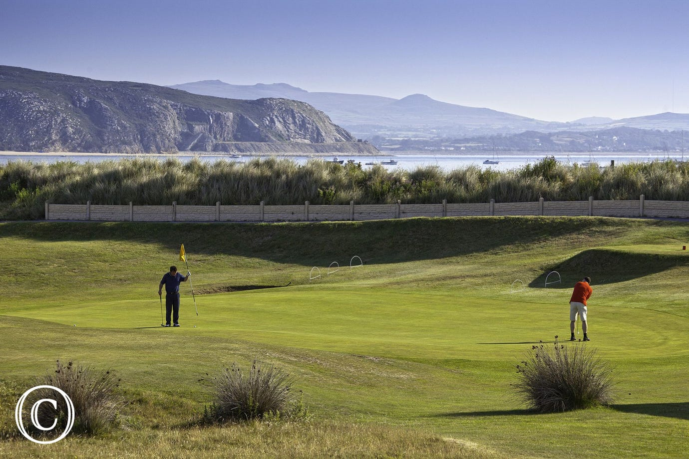 Abersoch Golf Course with magnificent coastal scenery