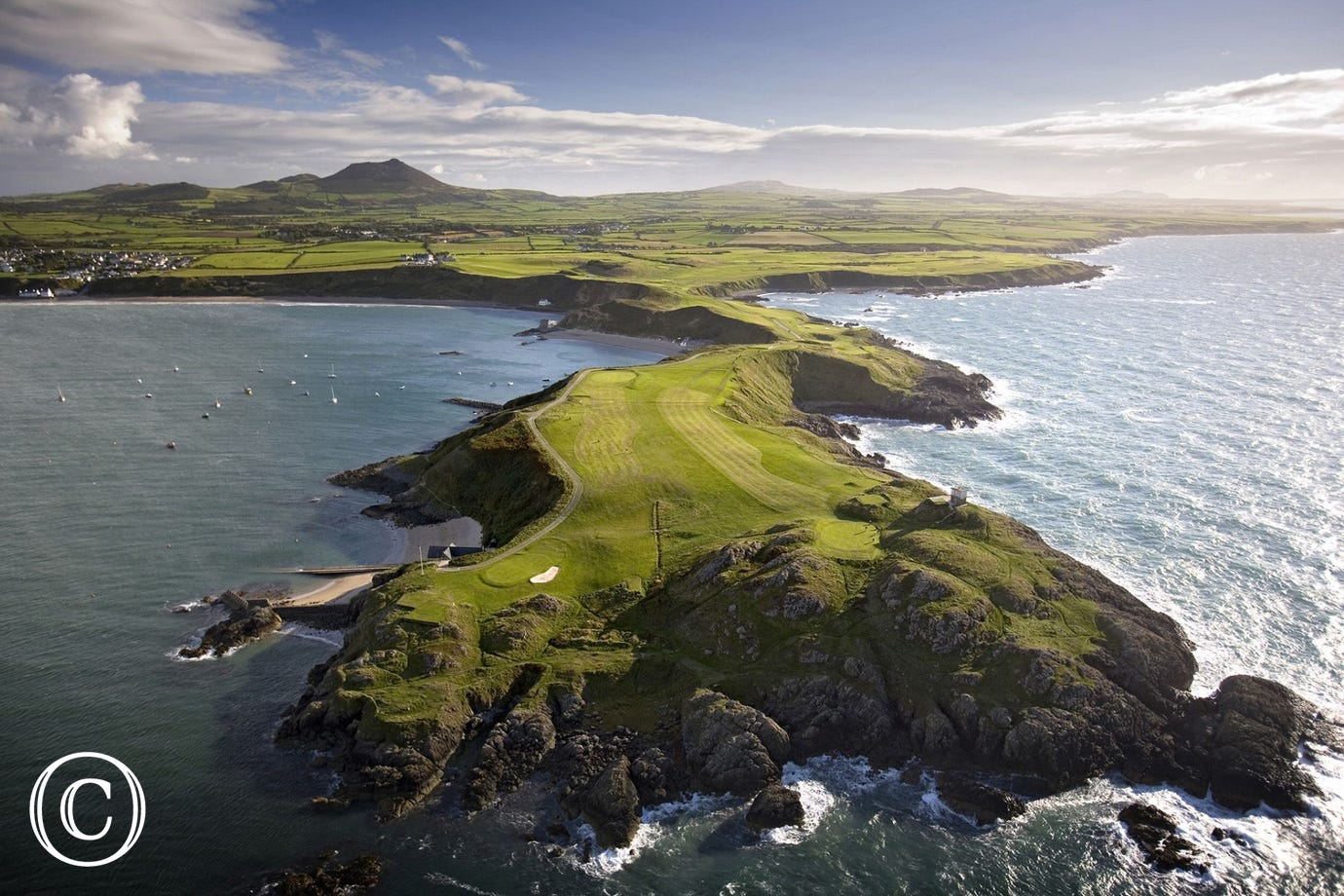 Another nearby golfing venue with amazing scenery is Nefyn & District Golf Club