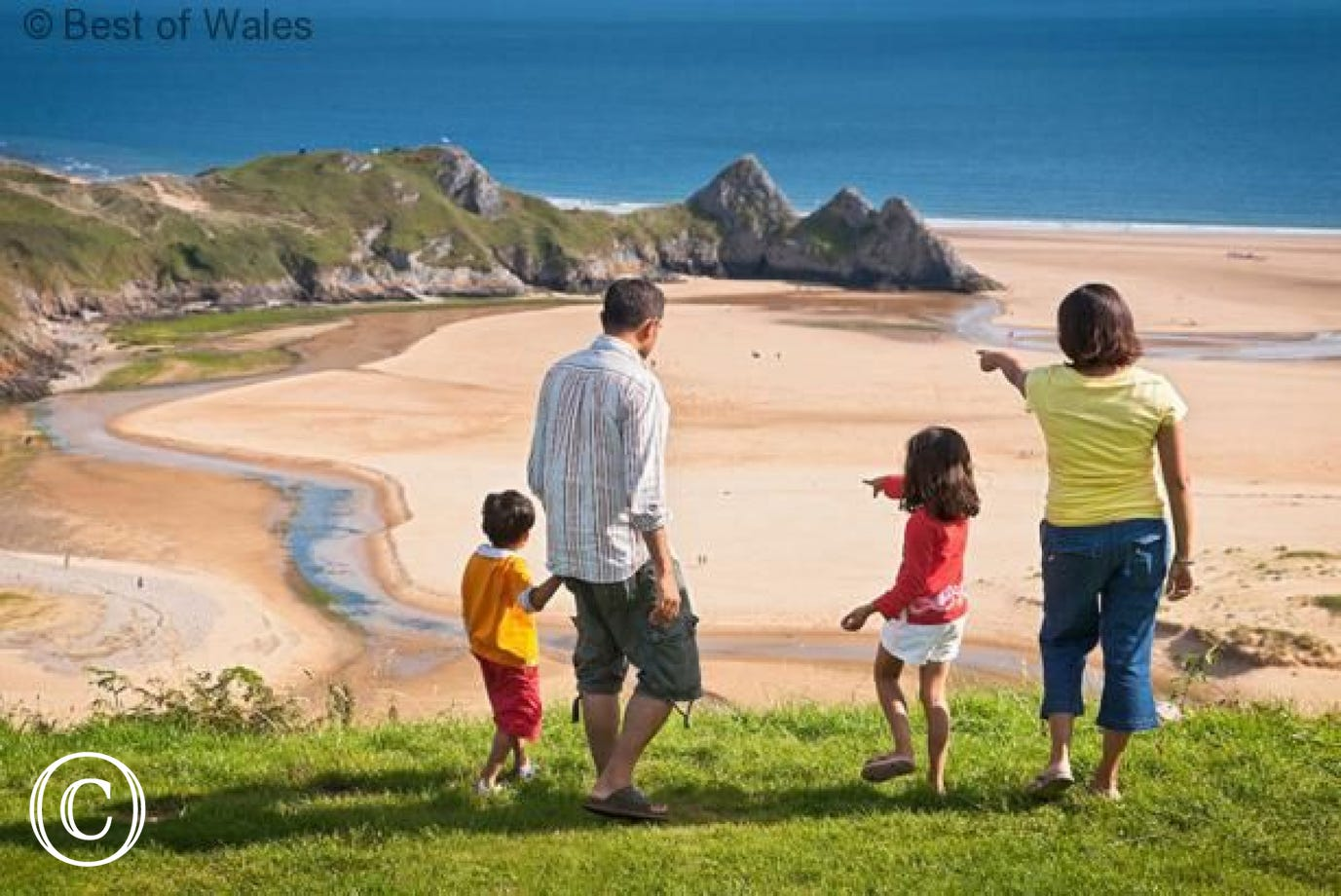 A family visit to Gower