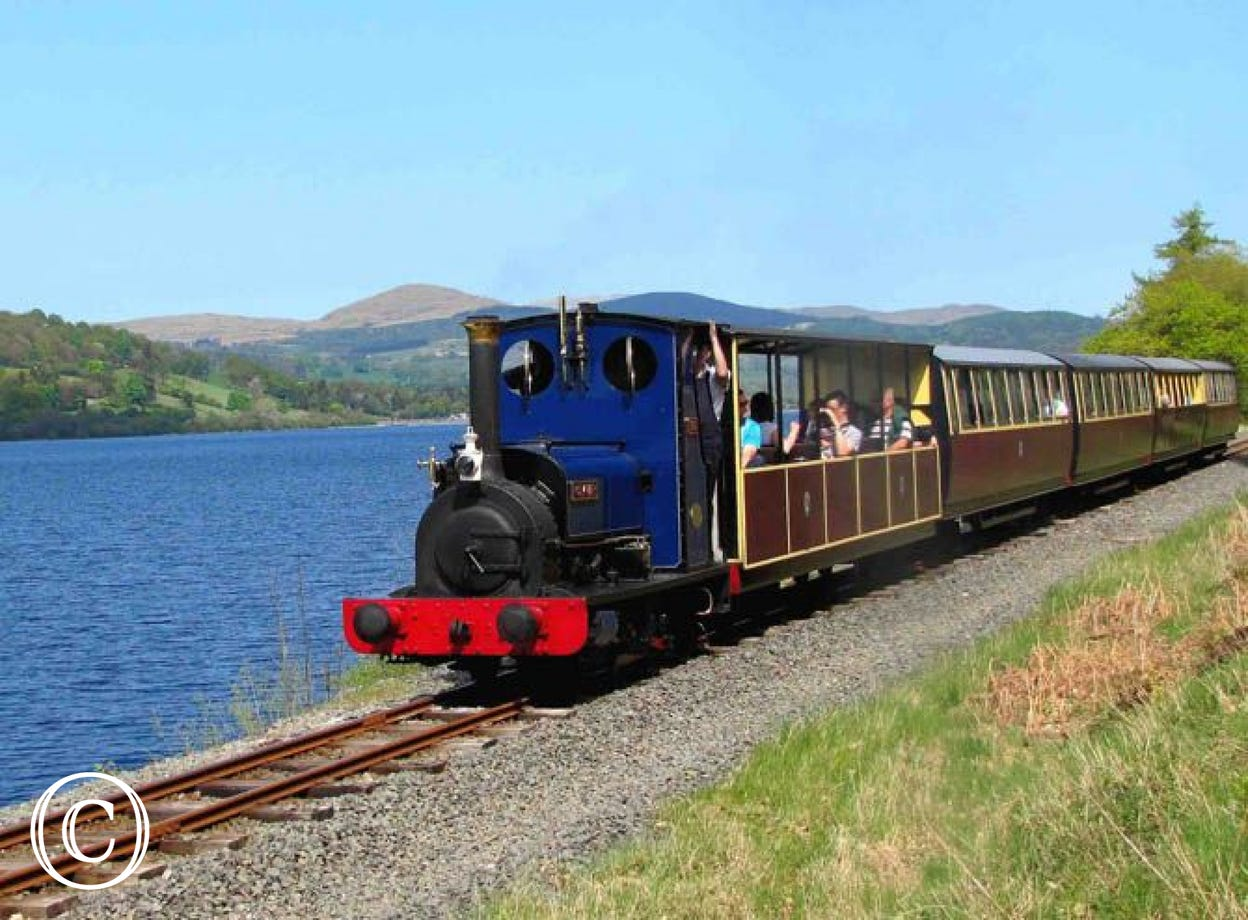 Enjoy a truly scenic ride on the Bala Lake Steam Railway