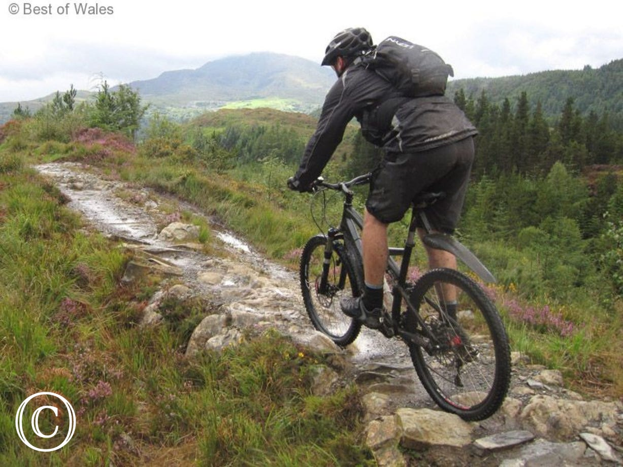 The nearest mountain biking trails at just 2 miles from the cottage