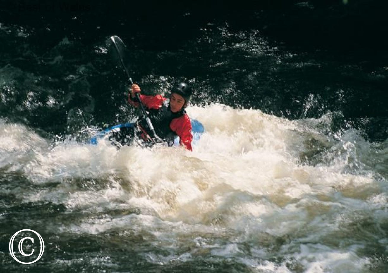 Enjoy some canoeing near Betws y Coed, 3 miles from your cottage
