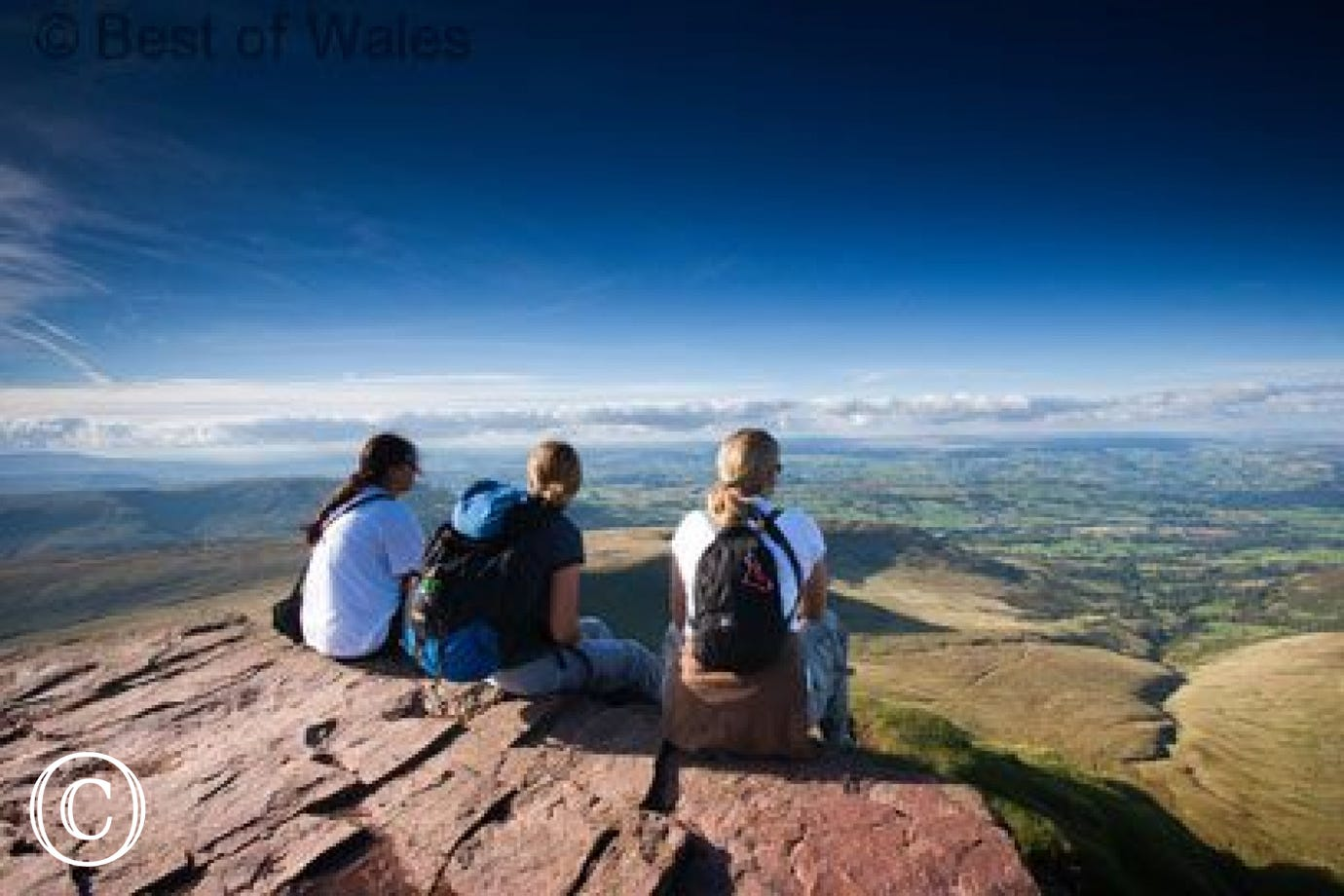 Walkers enjoying the summit - Brecon Beacons