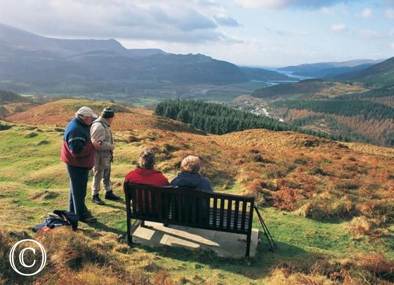 Precipice Walk, Dolgellau. There is also a New Precipice Walk which starts from the cottage doorstep in Llanelltyd