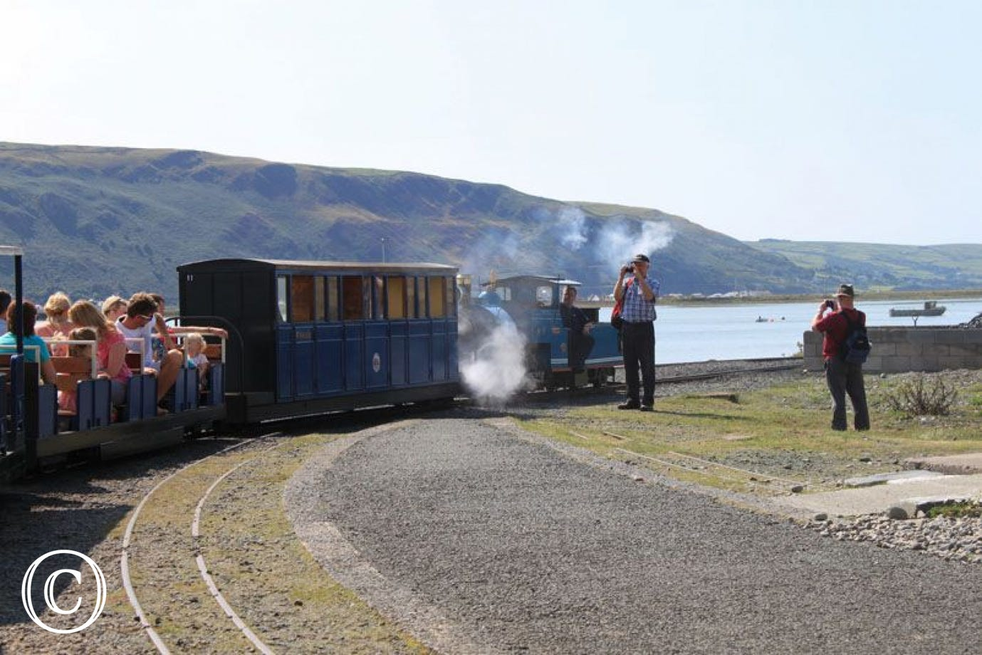 Ride Fairbourne's miniature steam train to the Mawddach Estuary
