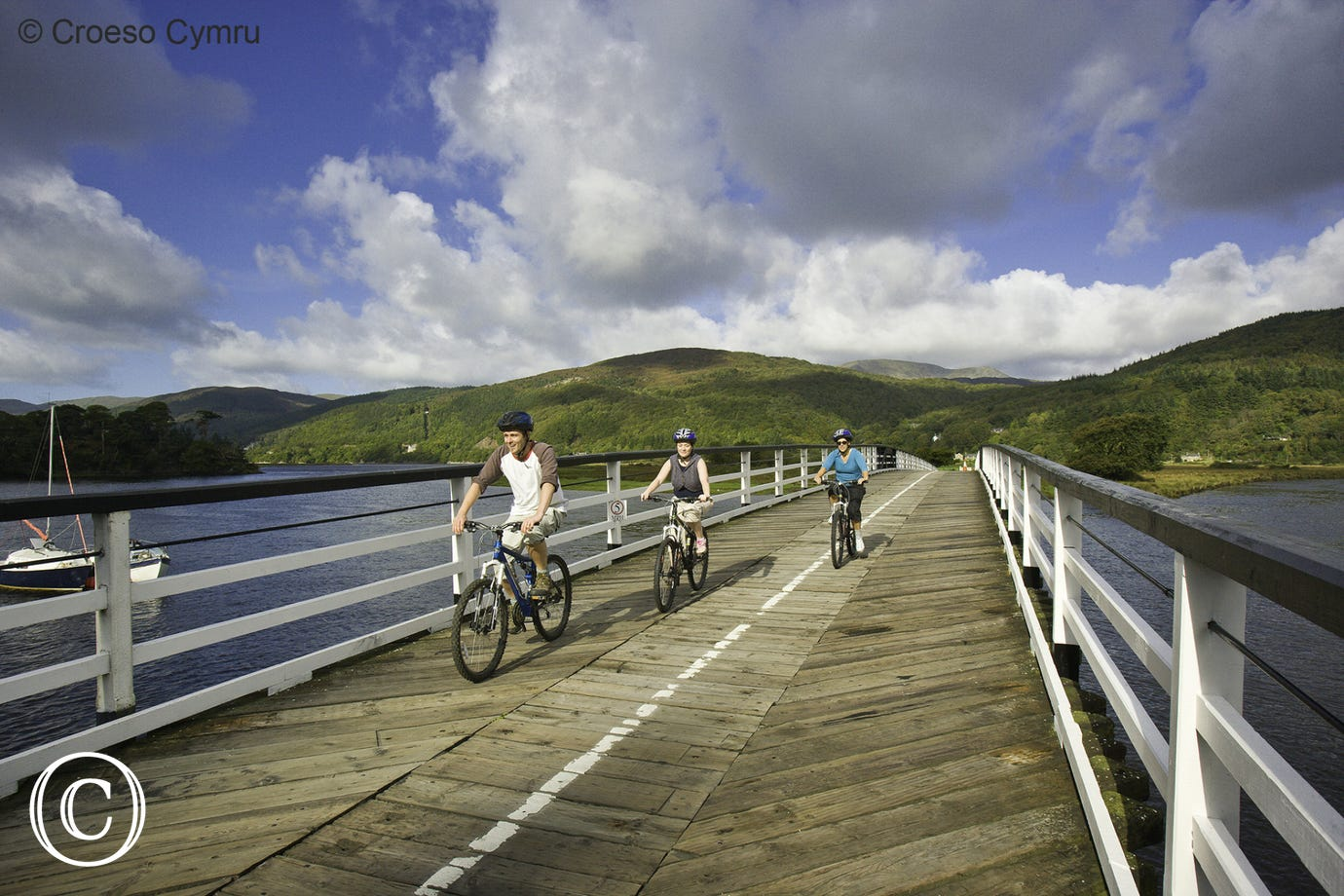 Walk or cycle the scenic Mawddach Trail from Barmouth to Dolgellau