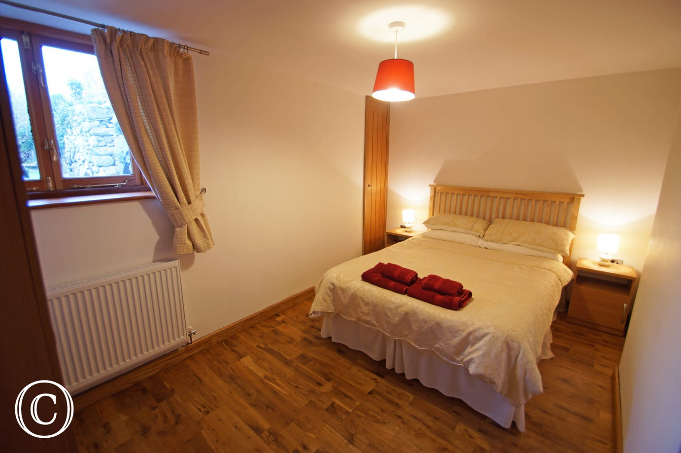 Double bedroom at your Barmouth holiday cottage with sea views