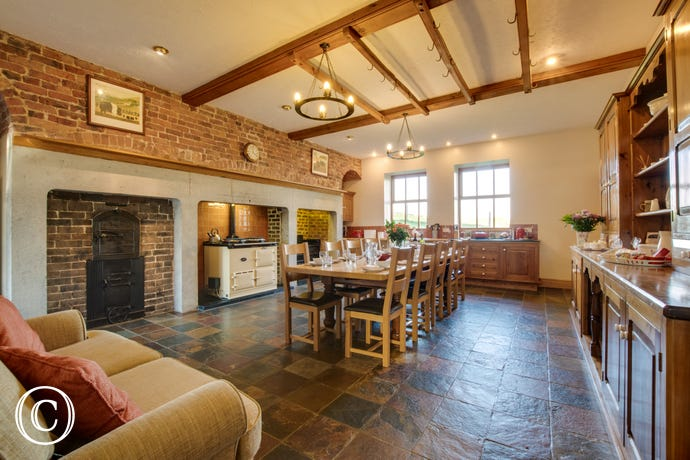 A stunning, traditional Welsh kitchen - the heart of the home